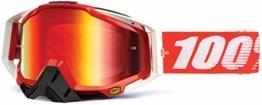 100% RACECRAFT Brille Fire - Spiegel Linse, Rot , Größe One Size - 1