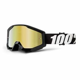 100% STRATA Brille Outlaw - Spiegel Linse, Gold , Größe One Size - 1