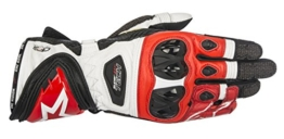 Alpinestars Handschuhe Supertech Gloves RACING, BLACK WHITE RED, L - 1