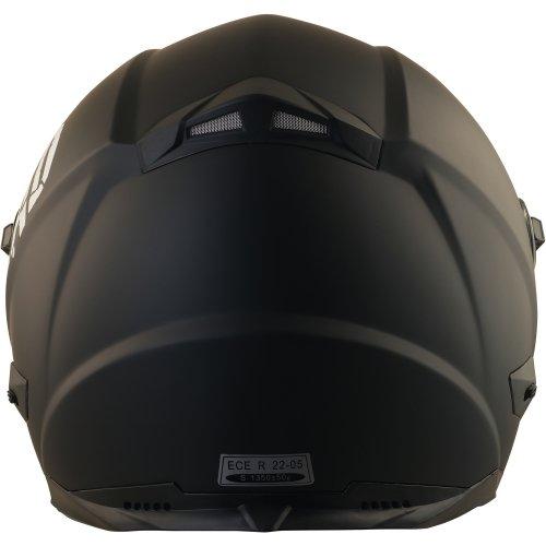 Broken Head BeProud Blau Ltd - Schlanker Motorradhelm Mit Schwarzem Zusatz-Visier - Matt-Schwarz - Größe S (55-56 cm) - 5
