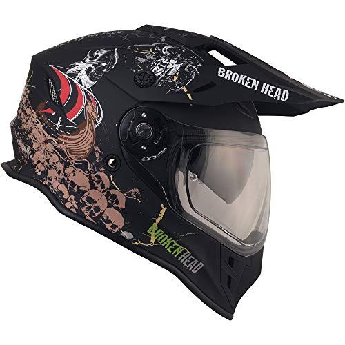 Broken Head Fullgas Viking VX2 - Motorradhelm Mit Sonnenblende - Cross-Helm In Schwarz & Grau - Größe M (57-58 cm) - 4