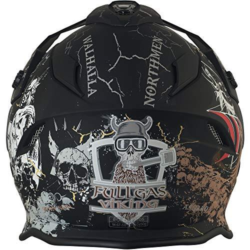 Broken Head Fullgas Viking VX2 - Motorradhelm Mit Sonnenblende - Cross-Helm In Schwarz & Grau - Größe M (57-58 cm) - 5
