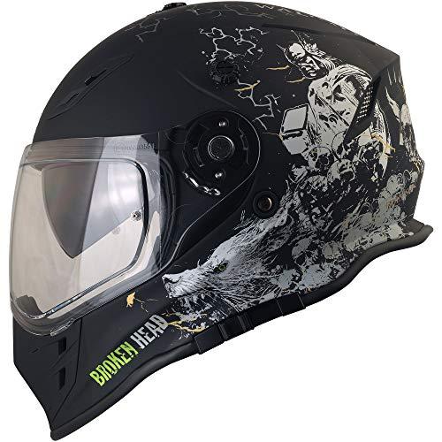 Broken Head Fullgas Viking VX2 - Motorradhelm Mit Sonnenblende - Cross-Helm In Schwarz & Grau - Größe M (57-58 cm) - 8