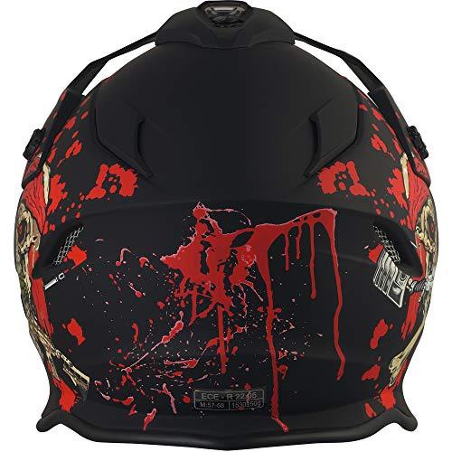 Broken Head Jack S. VX2 Rot - Enduro Cross Helm - Motorrad-Helm Mit Visier & Sonnenblende - Größe XL (61-62 cm) - 5