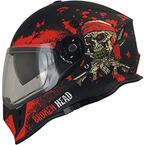Broken Head Jack S. VX2 Rot - Enduro Cross Helm - Motorrad-Helm Mit Visier & Sonnenblende - Größe XL (61-62 cm) - 8