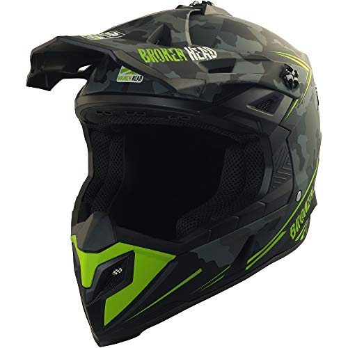Broken Head Squadron Rebelution - Leichter Motocross & Enduro Helm - Camouflage Grau - Größe L (59-60 cm) - 2