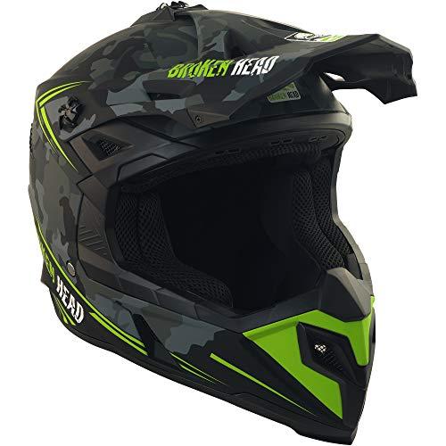 Broken Head Squadron Rebelution - Leichter Motocross & Enduro Helm - Camouflage Grau - Größe L (59-60 cm) - 3