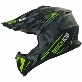 Broken Head Squadron Rebelution - Leichter Motocross & Enduro Helm - Camouflage Grau - Größe L (59-60 cm) - 1