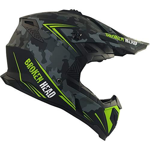 Broken Head Squadron Rebelution - Leichter Motocross & Enduro Helm - Camouflage Grau - Größe L (59-60 cm) - 4