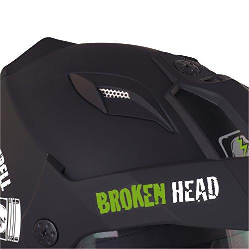 Broken Head Street Rebel Cross-Helm grün mit Visier - Enduro-Helm - MX Motocross Helm mit Sonnenblende - Quad-Helm (L 59-60 cm) - 6