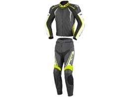 Büse Silverstone Pro 2-Teiler Damen Motorrad Lederkombi Schwarz/Weiß/Gelb 40 - 1