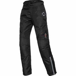 DXR Motorradhose Damen Tour Textilhose 5.0, Motorradhose Damen, wasserdicht, Winddicht, atmungsaktiv, Thermofutter, weitenverstellbarer Bund, Schwarz, XS - 1