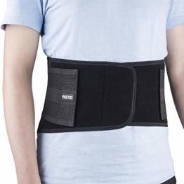 FREETOO Rückenbandage mit Stützstreben Verstellbare Zuggurte und Atmungsaktiver Nylonstoff ideal für Arbeitsschutz entlastet die Rückenmuskulatur und zur Haltungskorrektur - 1