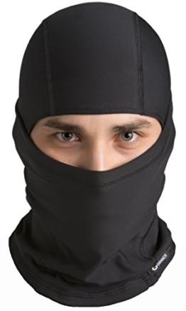 Gwinner Sturmhaube Skimaske Kopfhaube Gesichtsmaske Balaclava IV THERMOLINE, schwarz, S/M - 1