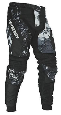 HEYBERRY Motocross Enduro Quad Hose schwarz weiß Gr. XL - 1