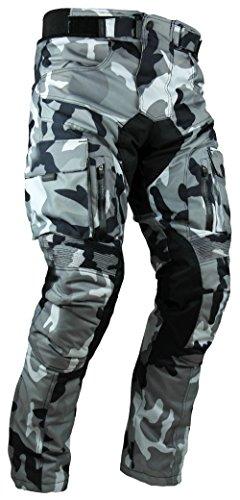 HEYBERRY Sportliche Motorrad Hose Motorradhose Camouflage Weiß Gr. XL - 1