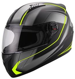 Integralhelm Helm Motorradhelm RALLOX 708 neon gelb grün schwarz matt S M L XL Größe M - 1