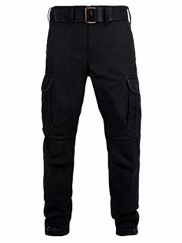 John Doe Regular Cargo - Schwarz | Motorradhose mit Kevlar | Einsetzbare Protektoren | Atmungsaktiv | Motorrad Cargo Hose | Hose mit Seitentaschen - 1