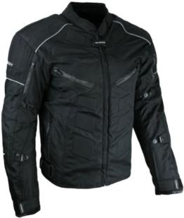Kurze Textil Motorrad Jacke Motorradjacke Schwarz Gr. 3XL - 1