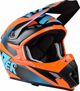 Lazer MX8 X-Team Pure Carbon Crosshelm M (57/58) Orange Matt - 1