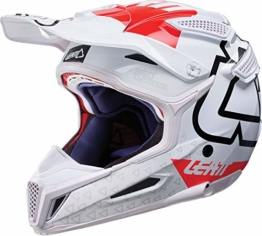 Leatt GPX 5.5 Composite V15 Crosshelm XL (61/62) Weiß/Rot - 1