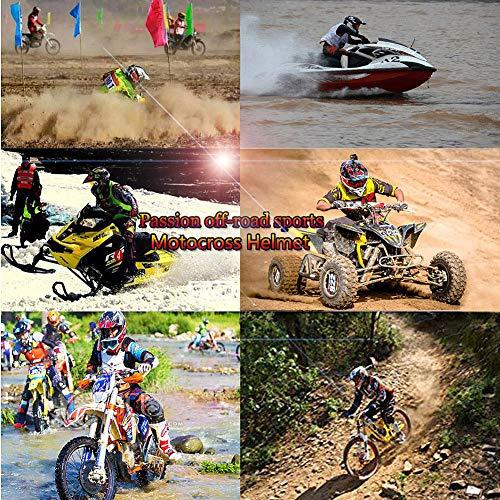 LEENY Motocross-Helm, Herren Motorradhelm Sets mit Brillen/Maske/Handschuhe, Motorrad Sports DH Enduro-Helm ATV MTB Quad Motorräder Off-Road Cross-Helm für Männer Damen,S - 4
