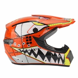 MPLG Helm Motocross Helm Rennrad Kinder ATV Geländewagen Downhill Cross Helm, 21, M - 1