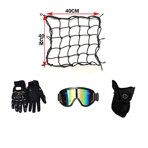 MRDEAR Motorrad Crosshelm mit Brille (5 Stück) - Schwarz/Rockstar - Adult Motocross Helm Erwachsener Off Road Fullface MTB Helm Mopedhelm Motorradhelm für Damen Herren Sicherheit Schutz,L - 5