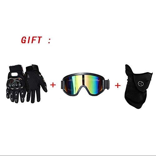 MRDEER Motocross Helm, Adult Off Road Helm mit Handschuhe Maske Brille, Unisex Motorradhelm Cross Helme Schutzhelm ATV Helm für Männer Damen Sicherheit Schutz, 5 Stile Verfügbar,A,L - 3