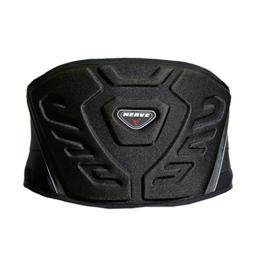 Nierengurt Motorrad Solid Verstärkt Gefüttert Fleece Flexibel Stretch Klettverschluss Sport Stütze Schutz - schwarz - XL-125cm - 1