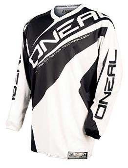 O'Neal Element Jersey RACEWEAR Trikot Schwarz Weiß Motocross Mountainbike Enduro MTB MX DH FR, 0024R-1, Größe Large - 1