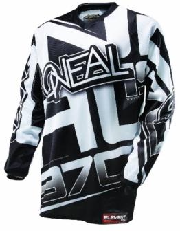 O'NEAL Element Racewear FR Jersey Trikot lang schwarz/weiß 2014: Größe: XL (56/58) - 1