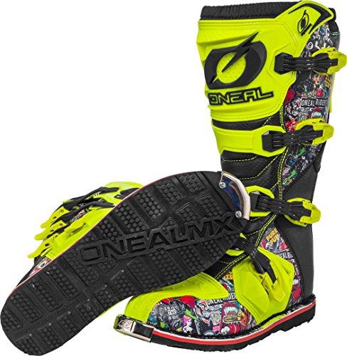 O'NEAL Rider Crank MX Motocross Supermoto Motorrad Stiefel gelb/schwarz 2020 Oneal: Größe: 9/42 - 4