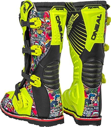 O'NEAL Rider Crank MX Motocross Supermoto Motorrad Stiefel gelb/schwarz 2020 Oneal: Größe: 9/42 - 5