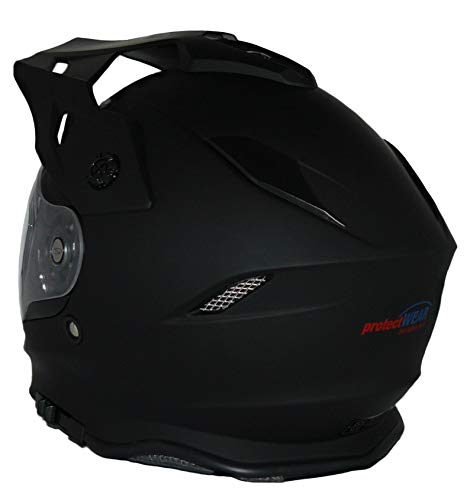 protectWEAR Crosshelm Endurohelm Motorradhelm mit integrierter Sonnenblende und Visier V331-SM-XL - 3