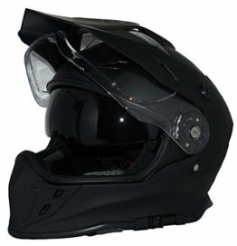 protectWEAR Crosshelm Endurohelm Motorradhelm mit integrierter Sonnenblende und Visier V331-SM-XL - 1