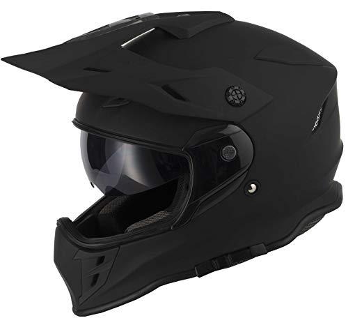 protectWEAR Crosshelm Endurohelm Motorradhelm mit integrierter Sonnenblende und Visier V331-SM-XL - 6