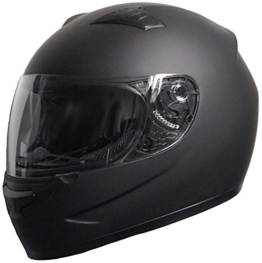 Rallox Helmets Integralhelm 051-1 schwarz/matt Rallox Motorrad Roller Sturz Helm (XS, S, M, L, XL) Größe M - 1
