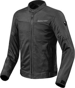 REV'IT! Motorradjacke mit Protektoren Motorrad Jacke Eclipse Textiljacke schwarz L, Herren, Tourer, Ganzjährig - 1