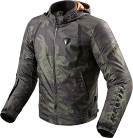 REV'IT! Motorradjacke mit Protektoren Motorrad Jacke Flare Textiljacke Army grün 3XL, Herren, Chopper/Cruiser, Ganzjährig - 1