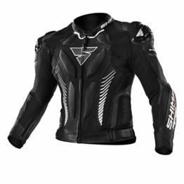 SHIMA Apex, Motorradjacke Lederkombi Motorradbekleidung Zweiteiler Motorradkombi Motorradanzug, (48-58, Schwarz), Größe 58 - 1
