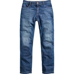 Spirit Motors Motorrad Jeans, Motorradhose Herren Jeans mit Schutzfunktion, 5-Pocket-Jeans im Boot-Cut Style, Taschen für Knieprotektoren, Abriebfeste Aramid-/Baumwolljeans 1.0, Blau, 38/34 - 1
