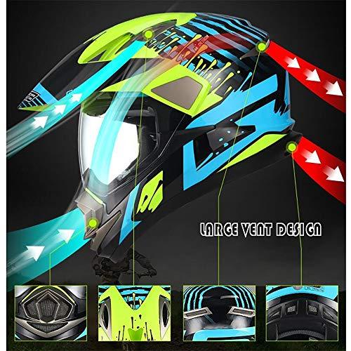 Swyout Off Road Helm Motorradhelm ECE Zertifizierter Crosshelm Enduro Motorrad Enduro Cross Helm Schutzhelm mit Visier und Sonnenblende, für Quad ATV Adventure, Männer Damen - 5