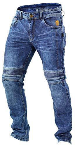 Trilobite Micas Motorrad-Jeans für Herren, im modernen Slim-Fit-Stil, Blau (Blue Washed), 34 - 1