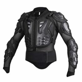 Yuanu Motorrad Schutzausrüstung Berg Reiten Skaten Snowboarden Brustpanzer Motorrad Ganzkörper-Rüstung mit Brust und Rücken Schutz Schwarz S - 1