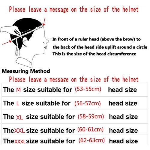 ZDHG Motorradhelm,Motocross Helm,Der Neueste Cross-Helm, ECE-Zertifizierung, Anti-Kollisions-Doppelscheiben-Helm Pull Endurance,Weiß,XL - 6