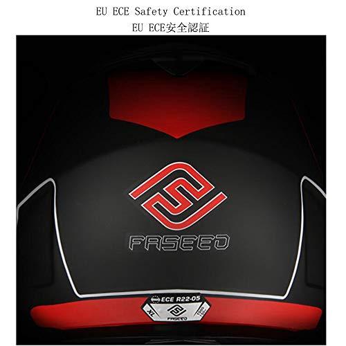 ZDHG Motorradhelm,Motocross Helm,Der Neueste Crosshelm Mit ECE-Zertifikat, Abnehmbarem/Kollisionssicherem Visier Und Kollisionssicherem ATV-Helm Für Rennräder (M-XXL),Schwarz,L - 3